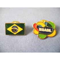 02 Pins Brasil - Bandeira