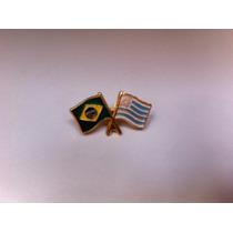 Pins Da Bandeira Do Brasil X Uruguai
