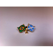Pins Da Bandeira Do Brasil X Escócia