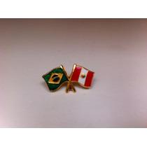 Pins Da Bandeira Do Brasil X Perú