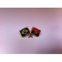 Pins Da Bandeira Do Brasil X Angola