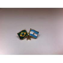 Pins Da Bandeira Do Brasil X Argentina