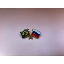 Pins Da Bandeira Do Brasil X Rússia