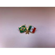 Pins Da Bandeira Do Brasil X México