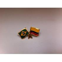 Pins Da Bandeira Do Brasil X Colômbia