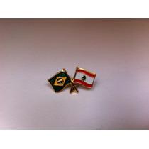 Pins Da Bandeira Do Brasil X Líbano