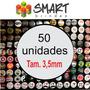 50 Bottons Buttons Bóton Broches Personalizados - 3,5cm