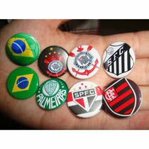 Mini Broches Pingentes 2,5cm Buttons Bottons Times Brasil
