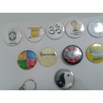 10 Botons Botton Buttons Butons Broches Personalizados 6,5cm