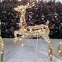 Renas Com Trenó Natalino Enfeite Decoração Natal Iluminação