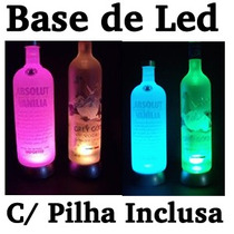 Base De Led Garrafa Que Pisca - Vodka, Big Apple