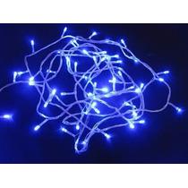 Pisca De Natal 100 Led Azul Natalino 9 Metros 8 Funções