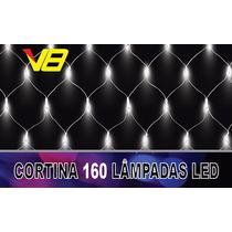 Pisca Cortina Led160 Lâmpadas 8 Funções Brco C/fio Brco 220v