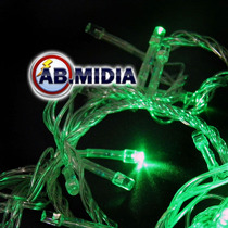 Pisca Pisca Led 100 Lampadas Verde Decoracao Natalina Natal