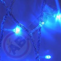 Pisca Pisca 100 Lampadas Led Azul Natal Enfeite Natalino Luz