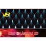 Pisca Rede Led 120 Lâmpada C/estrela Azul C/fio Branco 220v