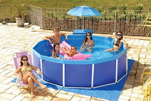 Piscina 5500 litros circular arma o de ferro mor r for Calcular litros piscina