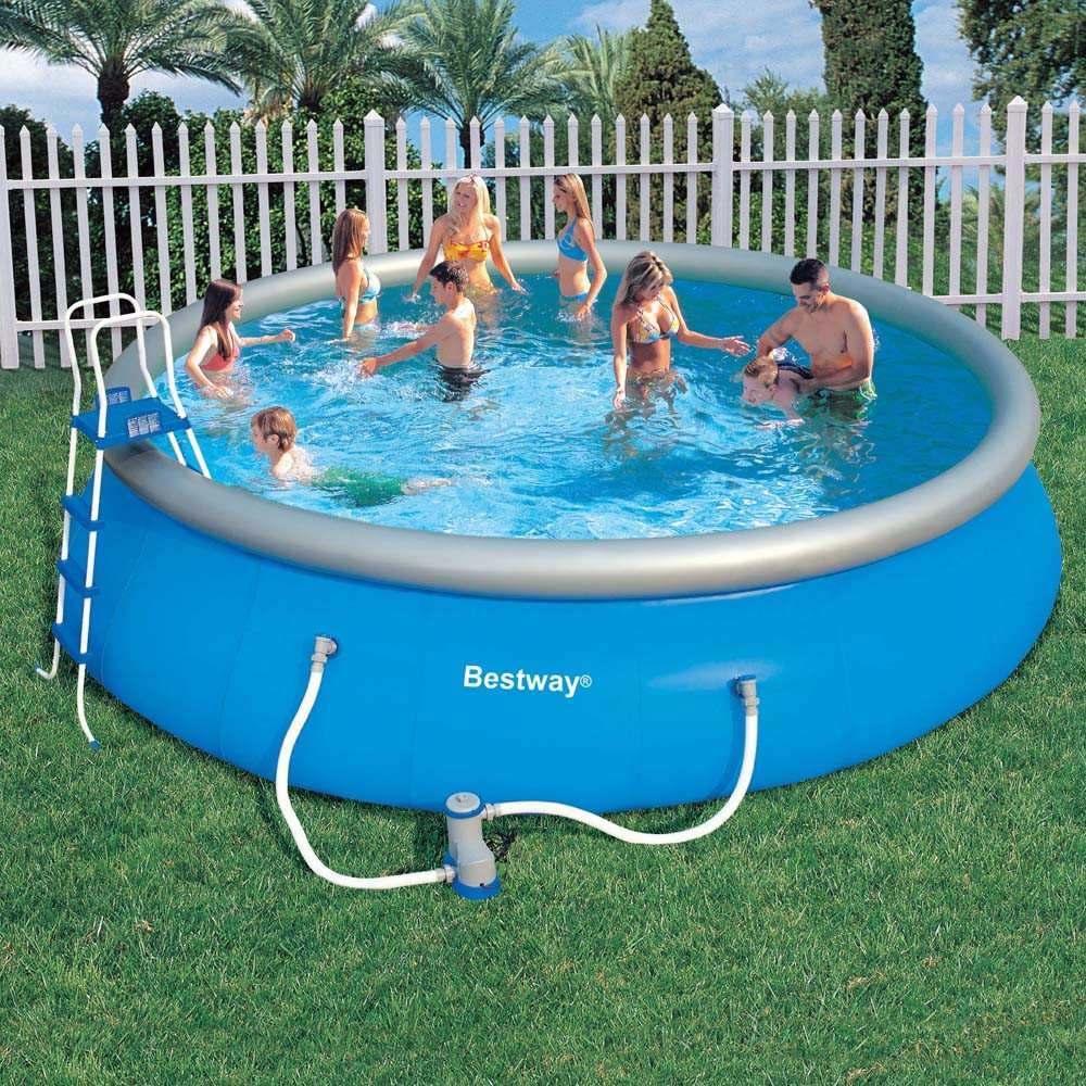 Piscina infl vel l bestway filtro escada capa lona for Lona piscina bestway