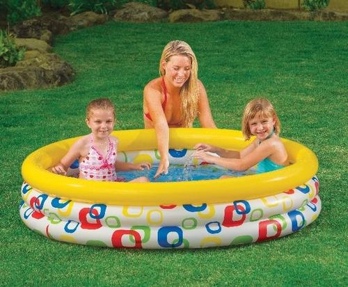 Piscina infl vel 288 litros intex redonda infantil beb for Piscina p bebe