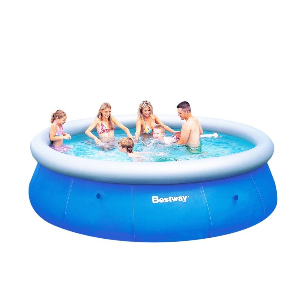 Piscina infl vel 6844 litros 3 66m x 91cm fast set bestway for Calcular litros piscina