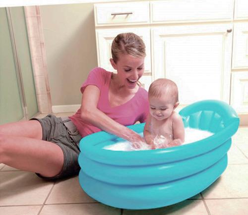 Piscina infl vel beb banheirinha fundo macio viagem r for Piscina p bebe