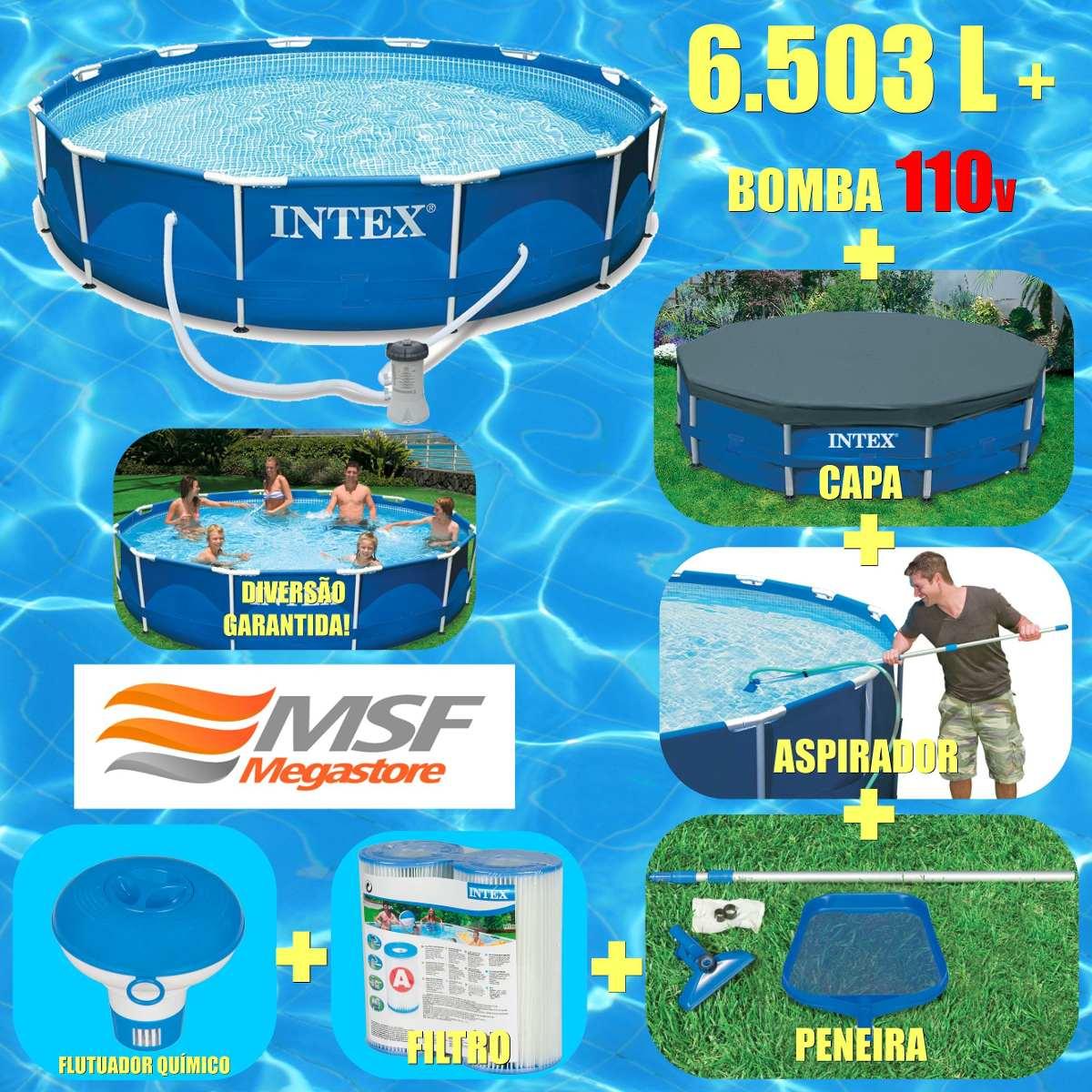 Piscina intex 6503 l bomba filtro capa kit de limpeza 110v for Filtro para piscina intex
