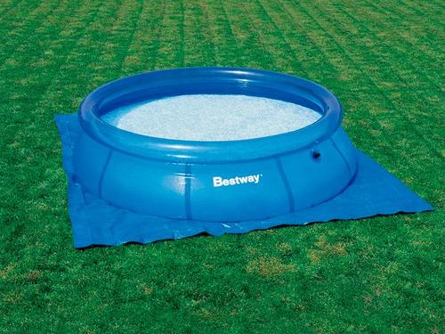 Piscina pvc fast set redonda litros lona forro for Lona piscina bestway