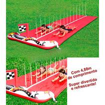 Tapete Escorregador 4,88m Pista Dupla Ski Bunda Inflável
