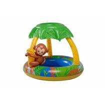 Banheira Inflável Macaco 65l Com Proteção Contra O Sol Mor