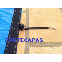Capas Para Piscinas / Redonda - 5,5m (d) +pinos+extensores