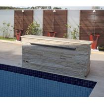 Cascata De Embutir Em Fibra Com Lamina De Aço Inox 100 Cm