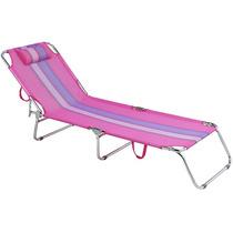 Cadeira Espreguiçadeira Alumínio Rosa Mor Piscina Praia Mor