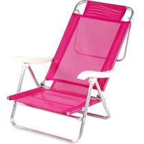 Cadeira De Praia De Alumínio Mor Sol De Verão Mania Virtual