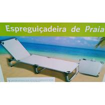 Cadeira Espreguiçadeira Praia Estrutura Aluminio E Aço