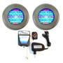 Kit Iluminação Piscina 2 Led 70 Colorido + Comando Até 16 M²