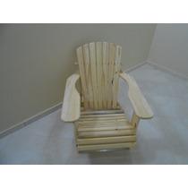 Cadeira Espreguiçadeira De Madeira Pino