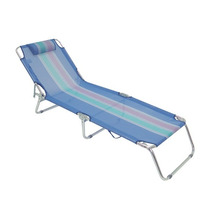 Cadeira Espreguiçadeira Alumínio Azul Mor Piscina Praia