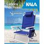 Cadeira Praia Reclinável Alumínio + Bolsa Térmica Para 136kg