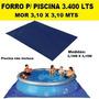 Forro P Piscinas Splash Fun De 3400 Litros 3,10m X 3,10m Mor