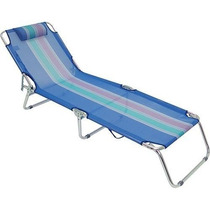 Cadeira Espreguiçadeira Alumínio Azul Mor Piscina Praia Mor