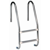 Escada Em Aço Inox 1.1/2 P/ Piscina C/ 2 Degraus Em Aço Inox