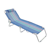 Cadeira Espreguiçadeira Mor Alumínio Azul Mania Virtual