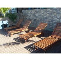 Espreguiçadeira Cadeira Piscina / Varanda / Praia Madeira