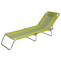 Cadeira Praia Piscina Espreguiçadeira Aluminio Verde