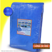 Capa Lona 5x3 Azul Piscina Proteção Cobertura 300 Micras