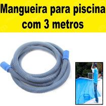 Mangueira P/ Piscina 32mm 3 Mts P/ Limpeza Aspirador Filtro