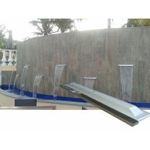 Cascata De 1,20m De Embutir Em Fibra Com Bico De Aço De Inox