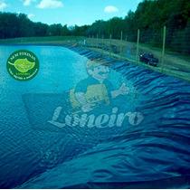 Lona 7x4,5 P/ Lago Tanque Criação De Peixes Manta Pppe Az/pr