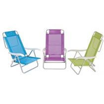 Cadeira De Praia Aluminio Sol De Verão Fashion - Mor