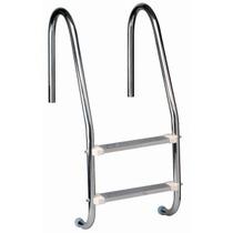 Escada Para Piscina Em Aço Inox Com Dois Degraus Em Aço Inox